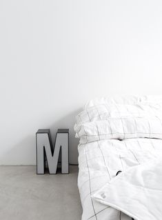 Via Musta Ovi | Bedroom | White | HAY | Letter M Light