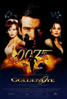 #6 GoldenEye (1995--Pierce Brosnan) James Bond teams up with the lone survivor of a destroyed Russian research center to stop the hijacking of a nuclear space weapon by the elusive arms dealer Janus.