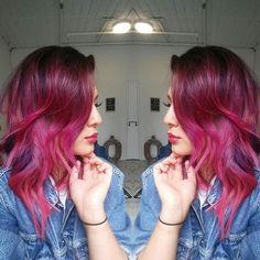#hairgame #strong #pravana #crazycolour #mnxpro #mnxproteam #hudabeauty @hudabeauty #makeupdollzxx @makeupdollzxx #hairgoals #mermaidhair #pinkhair