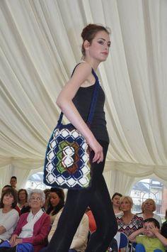 Bavarian, crocheted shoulder bag!