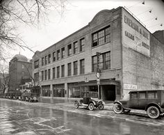 "Washington, D.C., circa 1926. ""Buick Motor Co. Emerson & Orme garage, M Street."" National Photo Company Collection glass negative."