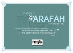 Fasting in day of arafah would erase sins of the past year and coming year #arafah