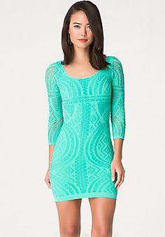 Mix Stitch Bodycon Dress in the Mail