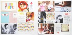 beautiful handwriting on cards and photos, some simple font stickers on photos. no digital additions.