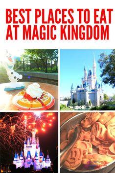 Best places to eat at the Magic Kingdom in Walt Disney World #disneyfood #disneyworld #magickingdom Disney World Vacation, Disney World Resorts, Disney Vacations, Walt Disney World, Disney Travel, Disney Parks, Disney World Tips And Tricks, Disney Tips, Disney Food