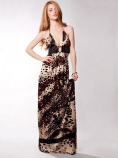 Sky Khalima Maxi Dress in Leopard $218.00 $109.00 Save: 50% off Elegant and sexy, Sky dresses and tops are absolutely amazing! Sky offers a line of quintessential luxurious and glamorous go-to dresses and tops for a night out or special occasion. Halter leopard maxi dress with O-ring empire waist. 94% rayon, 6% spandex. Dry clean. Made in the U.S.A.  Go to Deal #7 at http://greatshoppingatjustmystyle.blogspot.com