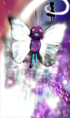 I choose you! Butterfree!  Photomanipulation - Butterfree