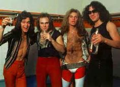 """Van Halen- How can you not love David Lee Roth...talented, entertaining! But I also loved the Sammy Hagar era. Fave Songs: """"Ill Wait"""", """"Hot For Teacher"""", When it`s love"""", """"Panama"""", """"You Really Got Me Goin`"""", """"Runnin` With The Devil"""", """"Eruption""""."""