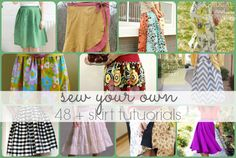 A skirt is a nice and easy garment to start with. Here is a list of free skirt tutorials that cover a range of styles and techniques to inspire you.