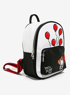 IT Chapter Two You'll Float Too Mini Backpack - BoxLunch ExclusiveIT Chapter Two You'll Float Too Mini Backpack - BoxLunch Exclusive, Winnie The Pooh Honey, Disney Winnie The Pooh, Marie Aristocats, Disney Pixar Up, Petunia Pickle Bottom, Creepy Cute, Cute Bags, Mini Backpack, Fashion Backpack
