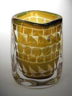 Ingeborg Lundin, (Swedish, 1921-1992), Kosta, Ariel Glass Vase. (Enlarge)