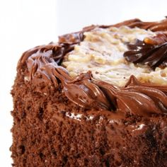 A recipe for Coffee and Walnut cake with Delicious Chocolate and Buttercream…