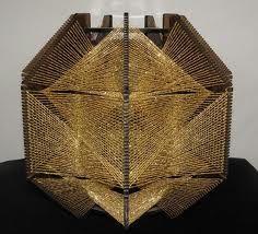 Sweet 70s string art lampshade