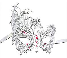 Burlesque-Boutique Women's Swan Metal Filigree Laser Cut Masquerade Mask, White/Pink Stones, One Size Luxury Mask http://www.amazon.com/dp/B00IMPVJN2/ref=cm_sw_r_pi_dp_np68ub0ENTE74