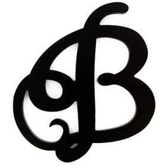 B Small Black Curly Letter