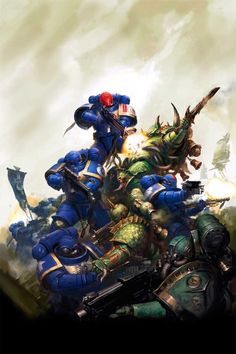 This gallery contains some of the most iconic Warhammer art ever created including the first rule book cover by John Sibbick art by John Blanche. Warhammer 40k Memes, Warhammer Art, Warhammer 40000, Warhammer Fantasy, Salamanders Space Marines, Grey Knights, Sci Fi Fantasy, Dark Fantasy, Angel Of Death