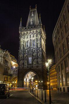 Photograph Powder Tower, Prague by Bartosz Bartkiewicz on Barcelona Cathedral, Powder, Photograph, Explore, Building, Travel, Inspiration, Prague, Photography