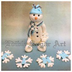 Christmas Cake Decorations, Holiday Decor, Christmas Snowman, Christmas Ornaments, Snowman Cake, Winter Onederland, Cake Toppers, Fondant, Cake Decorating