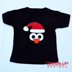 Penguin Christmas Shirt Toddler - Baby Penguin Christmas Onesie - Girl Penguin tshirt Christmas - Christmas t-shirt- Adult - by HeadsUpandUp on Etsy