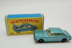 Matchbox Lesney #53 Ford zodiac MKIV with Original Box Vintage Toy collection now for sale by RememberWhenToys on Etsy