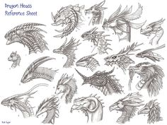 Dragonheads reference sheet by Ruth-Tay