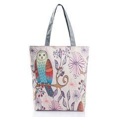 female Owl handbag flowers butterfly printed cloth single shoulder portable ladies selling fashion new Support free Dropship