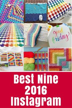 Best Nine 2016 Have you created your Best Nine on Instagram yet? Learn how here, and see the top projects on TheCraftyMummy this year according to Instagram.