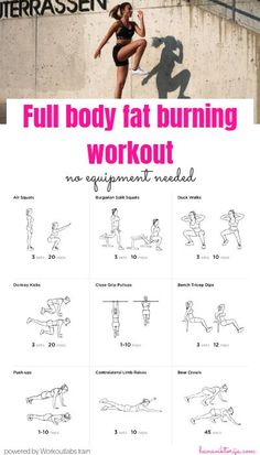 Are you ready to sweat it out? Here is the fat burning full body home-workout! - Are you ready to sweat it out? Here is the fat burning full body home-workout! Full Body Workout No Equipment, Full Body Workout At Home, At Home Workout Plan, Sweat Workout, Tummy Workout, At Home Workouts For Women Full Body, Gym Workouts, Weekly Workouts, Abdominal Workout