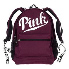 PINK Campus Backpack (£44) ❤ liked on Polyvore featuring bags, backpacks, pink, padded laptop backpack, backpack laptop bags, purple laptop bag, pink bag and shoulder strap backpack