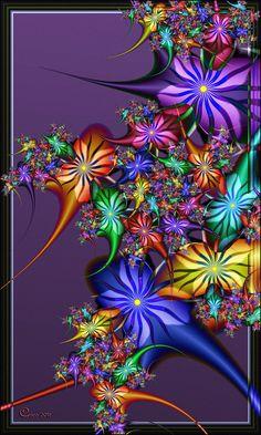 Colorburst II by Fractal art Fractal Images, Fractal Art, Murciano Art, Rainbow Colors, Vibrant Colors, Colours, Fractal Design, Flower Art, Amazing Art