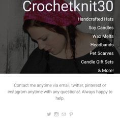 https://crochetknit30.weebly.com  #crochetgifts #knitgifts #candles #freeshipping