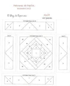 quilt block for paper piecing. El Blog de Esperanza.