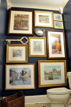 How to quickly hang a gallery wall. | http://evolutionofstyleblog.blogspot.com