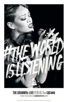 Rihanna #TheWorldIsListening #Grammys