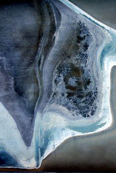"LuAnn Ostergaard.  ""manta ray""  abstract LuAnnOstergaard.com"