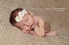 Baby Headband Flower headband Newborn headband by girliebowtique, via Etsy.