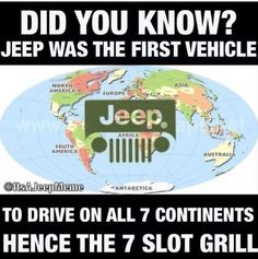 Don't know if this is true, but now I will never forget how many slots there are on the Jeep!