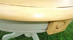 Norma's Kentiques - My BLOG  Beautiful drum style table done in Arles and Country Grey with clear and dark wax.