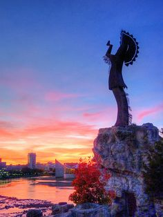 The Keeper of the Plains watches over Wichita Kansas, US....okay, technically this one is in Kansas but I had to include it because its just to cool!
