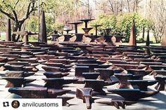 Anvil Graveyard   #Repost @anvilcustoms ・・・ Moment of silence, please.  #anvil #blacksmith #blacksmithanvil  #blacksmith #metalsmith #antiquetools #tools #forging