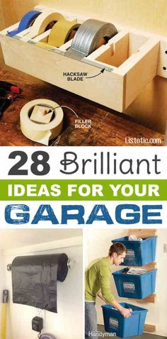 28 Brilliant Garage Organization Ideas