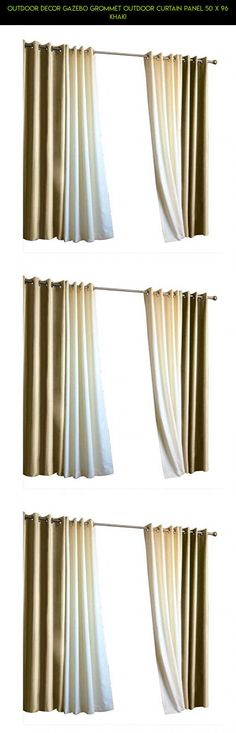 Outdoor Decor Gazebo Grommet Outdoor Curtain Panel 50 x 96 Khaki #parts #curtains #technology #plans #racing #products #kit #gadgets #fpv #camera #tech #shopping #decor #drone #outdoor