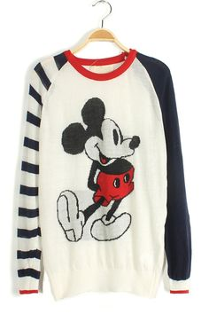 Mickey Graphic Sweater - OASAP.com