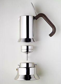 Richard Sapper x Alessi // 9090 Stovetop Espresso Maker