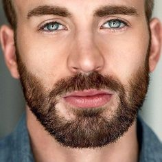 Chris Evans. # blue eyes. So mesmerizing .