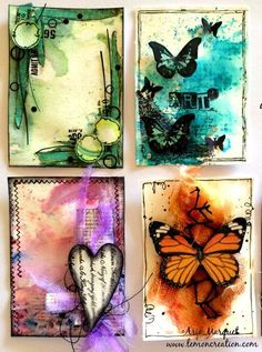 It's my debut today:) I did my very first ATC with Lindy's Magicals (Autumn Maple Crimson, Tibetan Poppy Teal, Panderosa Pine Olives & Red Hot Poker Orange). And I am happy:) No challenge this time, just done them for my own pleasure and to finally check Lindy's colors....