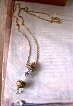 Lavender Reliquary Vessel Amulet ~ https://www.etsy.com/listing/159003219/lavender-reliquary-vessel-amulet