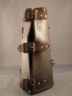 Leather arm bracer - back