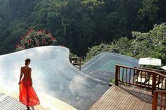 Infinity pools at the Hanging Gardens of Bali