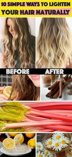 10 Amazingly Simple Ways to Lighten Your Hair Naturally #lighten #hair #naturally #diy #beauty #tips